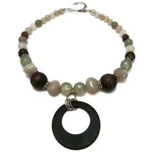Jewelry - Fashion Necklace Boho Wood Plastic Graduated Bead